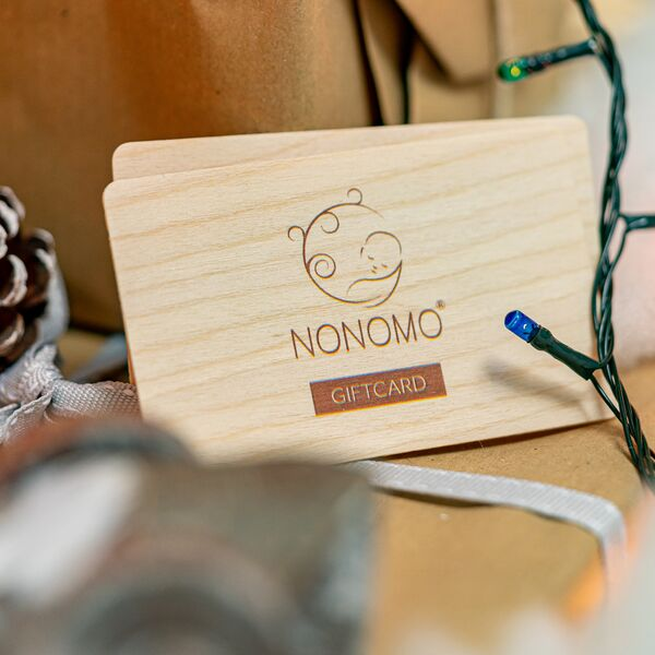 gift card made of wood