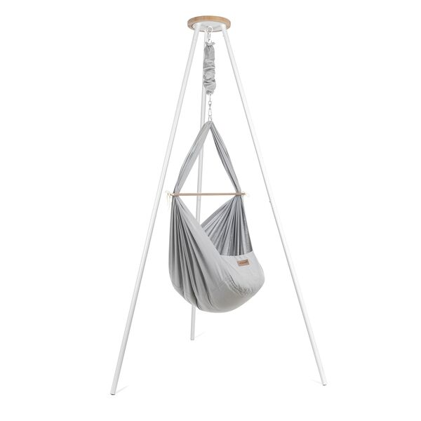 NONOMO® Tipi-Set: Federwiege Baby Classic mit Gestell -Tipi-