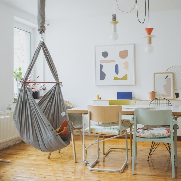 NONOMO® Travelller´s Edition Rental Baby Classic - swinging hammock with door clamp and mosquito net - grey X