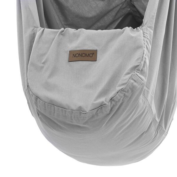 NONOMO® Swinging Hammock-Set Toddler Classic with Polyester Mattress and Ceiling Fixture - grey X