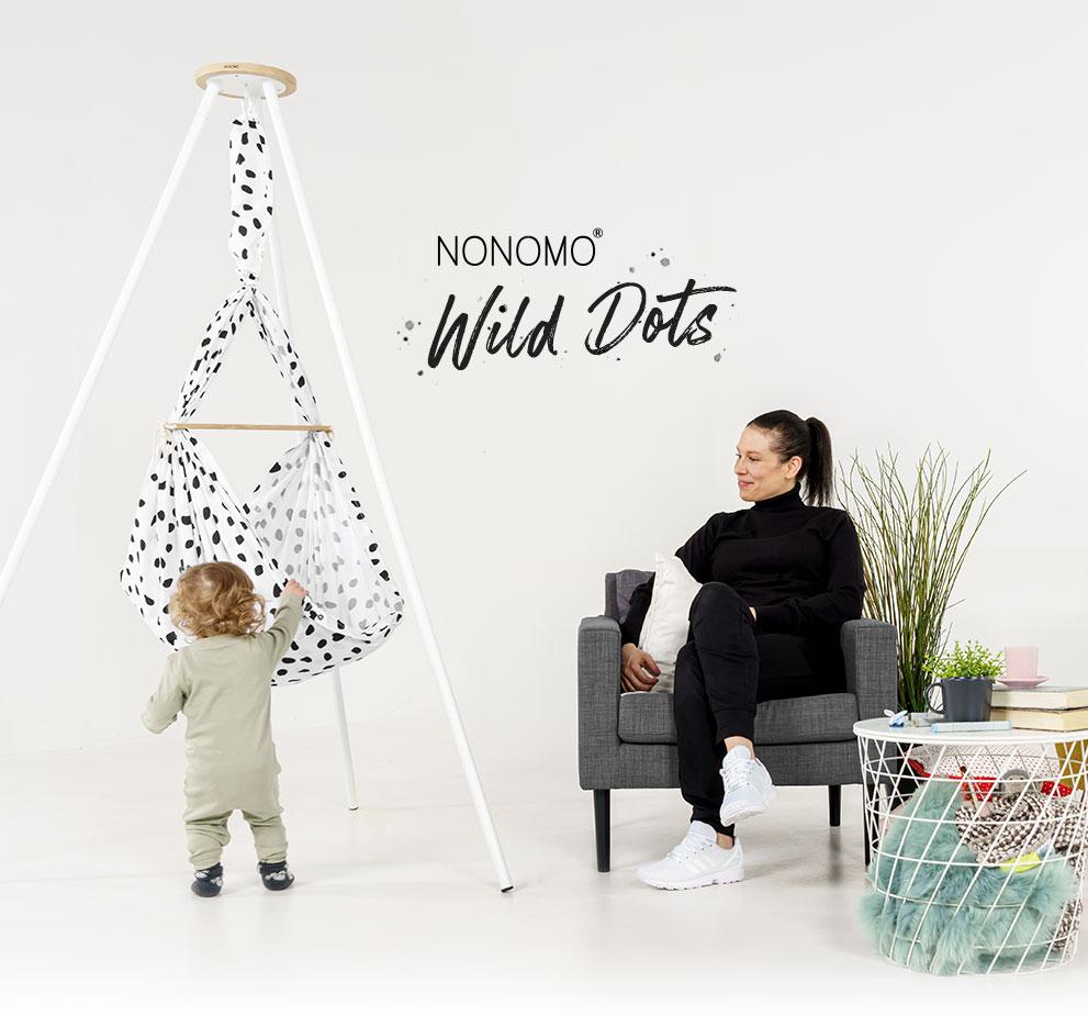 NEW NONOMO Swinging Hammock Wild Dots