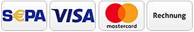 PayPal, debit, creditcard or payment upon invoice