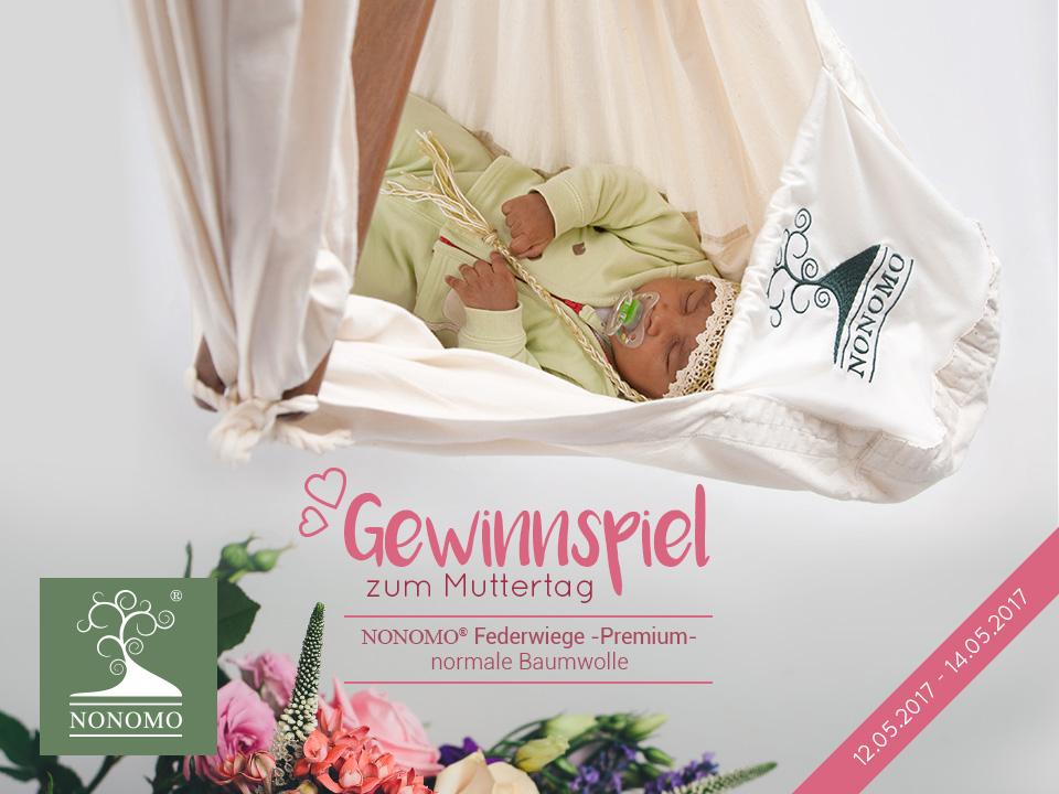 Gewinnspiel zum Muttertag 2017 - NONOMO Federwiege