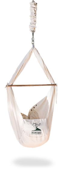 Produktbild der NONOMO Federwiege vor einem weißen Hintergrund