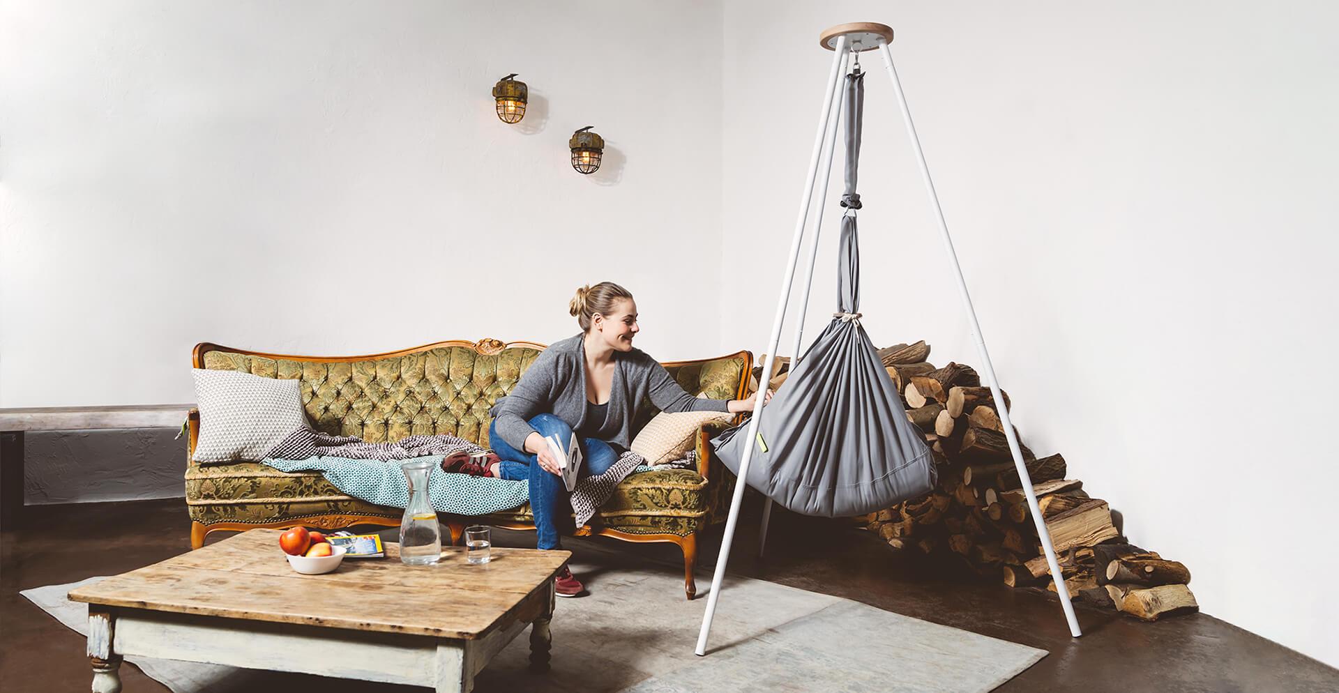 nonomo federwiege babywiege babyh ngematte. Black Bedroom Furniture Sets. Home Design Ideas