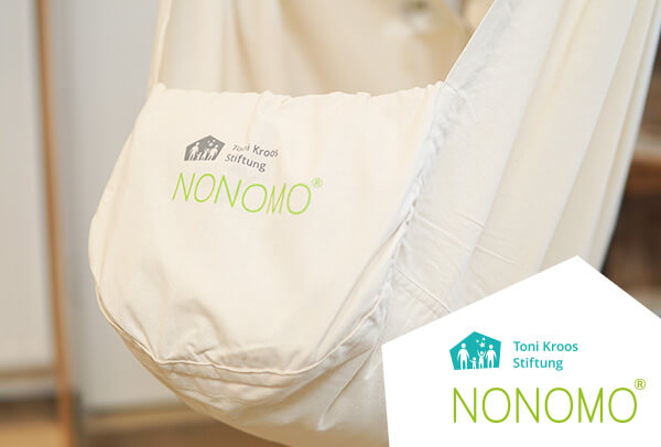 Close up of Toni Kroos foundation swinging hammock